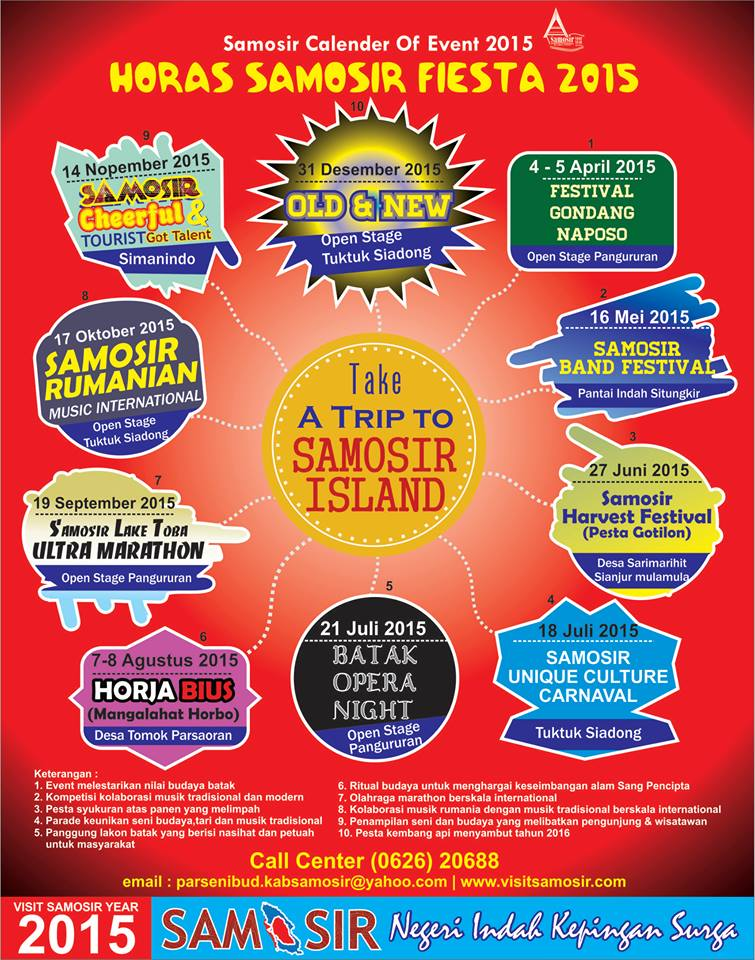 Samosir Calendar of Events 2015